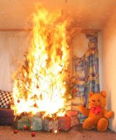 brennender christbaum 2
